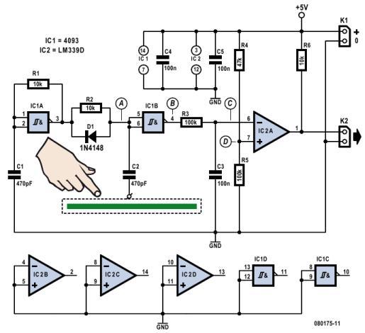 Схема емкостного датчика своими руками